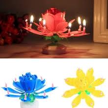 <b>lotus</b> candle <b>birthday</b> flower <b>musical</b> rotating cake candles <b>music</b> ...