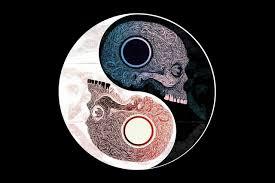 yin yang symbol skull pattern abstract chinese philosophy ys78 room home wall modern art decor wood on wooden yin yang wall art with yin yang symbol skull pattern abstract chinese philosophy ys78 room