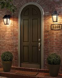 types of home lighting. Front Door With Two Wall-mounted Lights. Types Of Home Lighting O