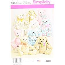 Animal Sewing Patterns Best Simplicity 48OS 48Pattern Stuffed Animals Sewing Pattern Paper