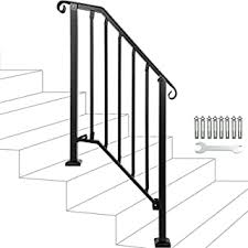 Made from 1 5/8 full moulded handrail, this railing is decorative and functional, fitting comfortably in your hand for optimal grip. Amazon Com Iron Railing