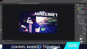 photoshop thumbnail free minecraft banner and thumbnail template mega pack photoshop