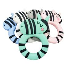 Safe Cartoon Baby Teethers BPA Free <b>Cute Animal Dinosaur Infant</b> ...