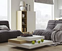 temahome slate modern coffee table in white and oak finish
