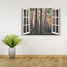 vinyl wall art add your photo window scene