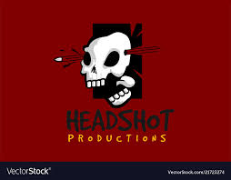 Free Headshot Template Headshot Skull Logo Template Royalty Free Vector Image