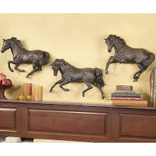 large wood horse image photo al horse wall art home decor ideas within most cur