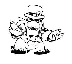Paper Bowser Coloring Pages Paper Coloring Pages Admirable Big