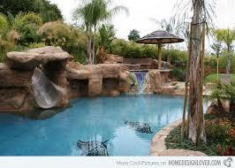 backyard pool with slides.  Pool 15 Gorgeous Swimming Pool Slides Backyard With Slide Throughout With