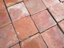 old genuine terracotta quarry floor tiles