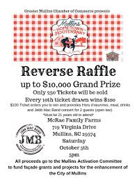 Reverse Raffle Rules Reverse Raffle Greater Mullins Chamber Of Commerce