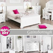 Gainsborough White Bedroom Furniture, Bedside Cabinets,Chest of ...