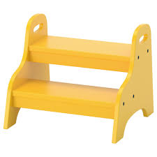 ikea trogen children s step stool le on the floor it won t tip when