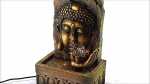 golden lucky buddha indoor tabletop water fountain with glass ball fountainmania com you