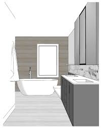 bathroom interior design sketches. Modren Interior 240 Carleton Bathroom Sketch 3 Colour Intended Interior Design Sketches N