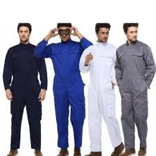 Mens work overalls working uniforms spring stand collar crew ...
