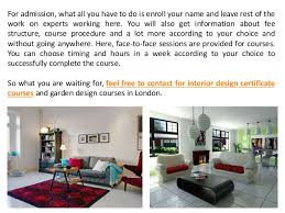 Small Picture Get Admission in Interior Design Certificate Courses in London