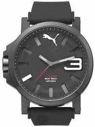 puma ultrasize black on black silicone watch pu103911005 men s puma ultrasize black on black silicone watch pu103911005