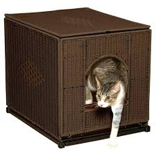 litter box furniture cat enclosed covered. Litter Box House Enclosed Furniture Cat Covered