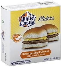 white castle breakfast sliders
