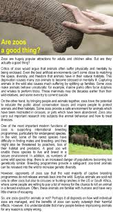 are zoos a good thing learnenglish teens british council show check your understanding true or false