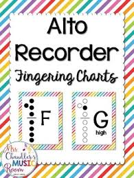 Treble Recorder Note Chart Alto Recorder Fingering Charts