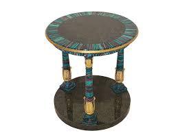 Art deco modern furniture Dining Room Colorful Art Deco Side Table Gold Leaf Petite Taylor Llorente Furniture Colorful Art Deco Design Side Table With Gold Leaf Details