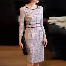 Elegant Tight-Fitting Solid <b>Temperament</b> Long-Sleeved <b>Dress</b> ...
