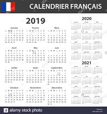 2018 2019 2020 2021 French Wall Calendar Days And Months