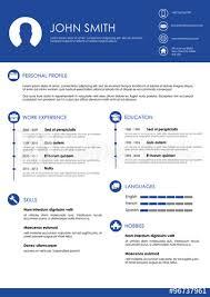 Blue Minimalistic Personal Vector Resume Cv Template Buy