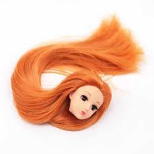 Con búp bê Đầu, 3D Thực Đôi Mắt To make up với Xoăn Thẳng Dày Phụ Kiện Tóc  Cho DIY Cosplay 1/6 Barbie Búp Bê Đồ Chơi Quà Tặng cho Cô Gái|