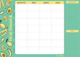 Weekly Meal Planer Super Food A4 Weekly Meal Planner Fpma4