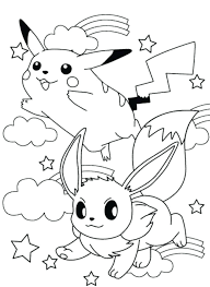 cute pikachu coloring pages printable baby colouring and ash mega game go page kids