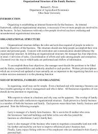 Farm Business Organizational Chart Organizational Structure Of The Family Business Bernard L