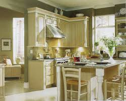 image of luxurious cream kitchen cabinets with light floors