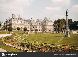 luxembourg palace luxembourg gardens paris france stock photo