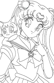 Small Picture Free sailor moon coloring pages for kids ColoringStar