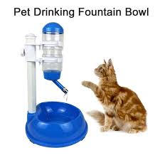500ml dog food bowl automatic water dispenser stand feeder bottle plastic cat drinking fountain automatic water bowl for cats g36