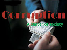 stop corruption corruption a cancer of society