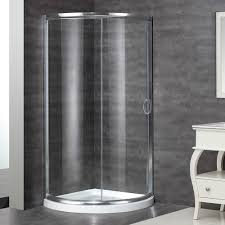 aston neo angle door round shower enclosure with shower base