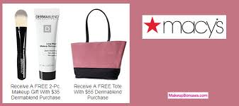 receive a free 3 pc gift with your 55 dermablend purchase