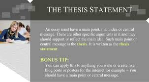 the thesis statement of an essay must be the thesis statement of thesis statement in an essay must contain kalinji comthe five paragraph essay capital community college thesis