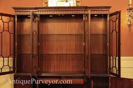 China Cabinet With Hutch Mahogany China Cabinet Hutch Breakfront Fine Reproduction