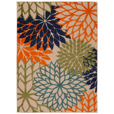 nourison aloha multi 3 ft x 4 ft indoor outdoor area rug 299062 the home depot