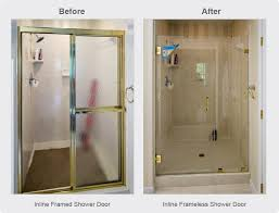 inline shower door