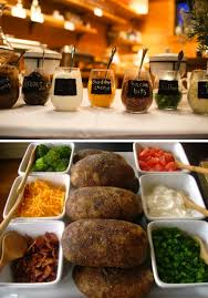 baked potato bar display. Perfect Display We Are Leaning Towards BBQ For The Catering And Really Wanting To Do A  Baked Intended Baked Potato Bar Display Pinterest