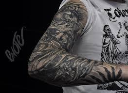 татуировка рукав органика рукав в стиле органика мастер тимур Enote