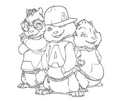chipmunk clipart coloring page 2