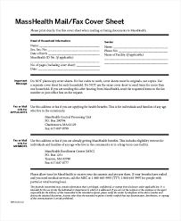 Sample Masshealth Fax Cover Sheet - Gameis.us