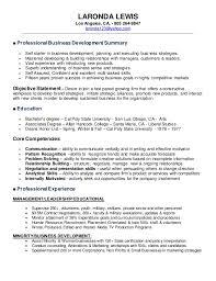 Business Development Objective Statement Laronda Resume Business Development 2015
